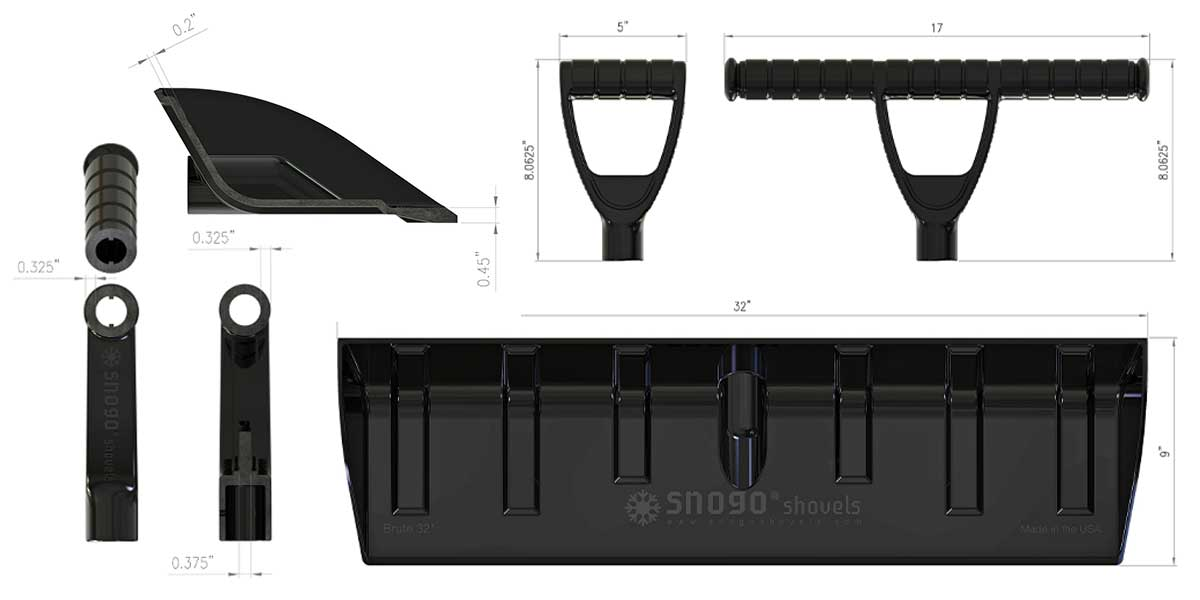 sno go shovels product features innovative snow shovel specifications 3 Product Features