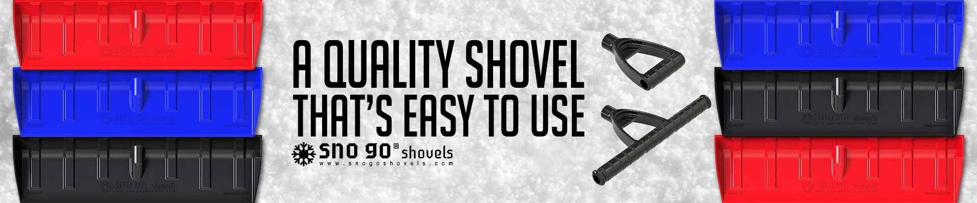 sno go shovels products safe snow better snow shovel banner Product Features